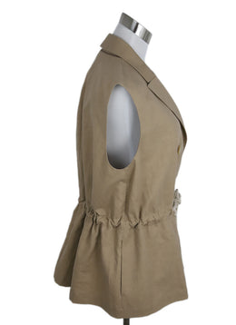 Brunello Cucinelli Tan Cotton Rope Belt Vest 2