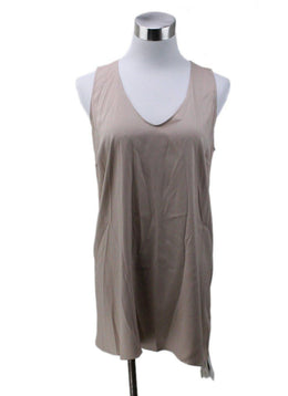 Brunello Cucinelli Tan Silk Top Sz 8
