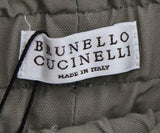Brunello Cucinelli Neutral Khaki  Cotton Pants 3