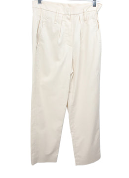 Brunello Cucinelli Neutral Taupe Cotton Pants 1