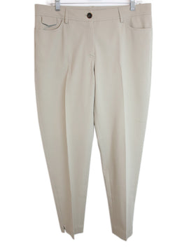 Brunello Cucinelli Beige Cotton Pants 1
