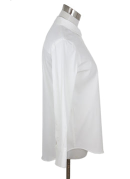 Brunello Cucinelli White Cotton with Chain Trim on front pocket Top 2