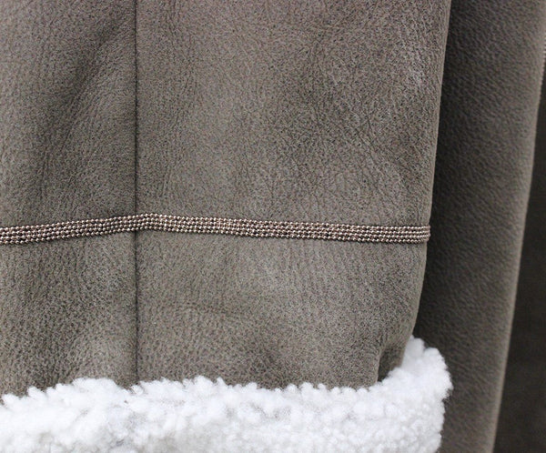 Brunello Cucinelli Taupe Shearling Coat 5