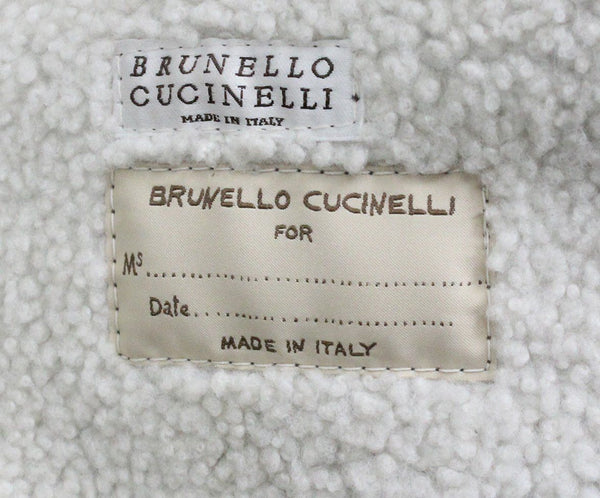 Brunello Cucinelli Taupe Shearling Coat 2