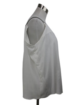 Brunello Cucinelli White Top with Silver Straps 2