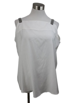 Brunello Cucinelli White Top with Silver Straps 1