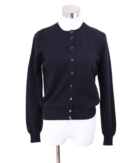 Celine Black Navy Cashmere Sweater Sz 6