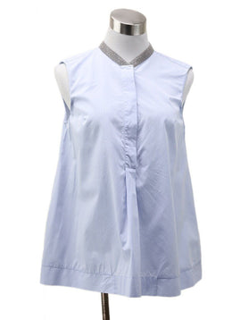 Brunello Cucinelli Blue Cotton Top