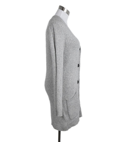 Brunello Cucinelli Grey Cashmere Sequins Sweater 1
