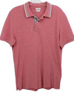 Brunello Cucinelli mens Red Polo Shirt 1