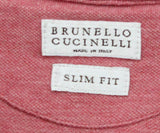Brunello Cucinelli mens Red Polo Shirt 3