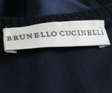 Brunello Cucinelli Navy Silk Top 4