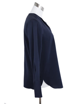 Brunello Cucinelli Navy Silk Top 2