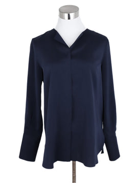 Brunello Cucinelli Navy Silk Top 1