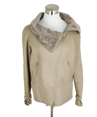 Brunello Cucinelli Neutral Taupe Shearling Coat 1