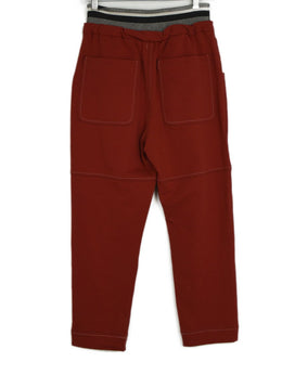 Brunello Cucinelli Red Cotton Pants 2