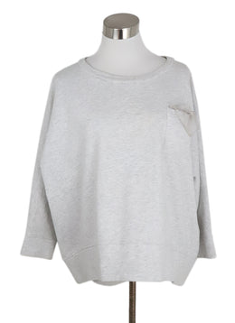 Brunello Cucinelli Grey Cotton Sweater 1