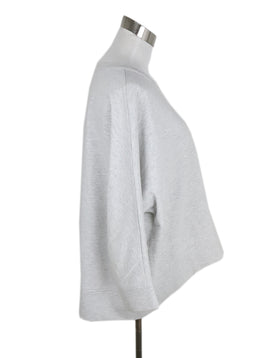 Brunello Cucinelli Grey Cotton Sweater 2