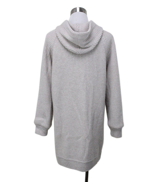 Brunello Cucinelli Beige Ribbed Cashmere Sweater 2