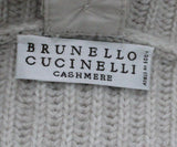 Brunello Cucinelli Beige Ribbed Cashmere Sweater 3