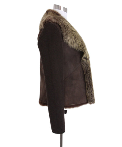 Brunello cucinelli Brown Shearling Jacket 1