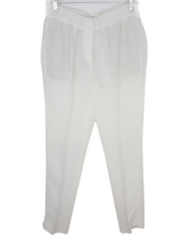 Brunello Cucinelli White Viscose Linen Pants 1
