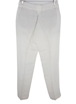 Brunello Cucinelli White Viscose Linen Pants 2