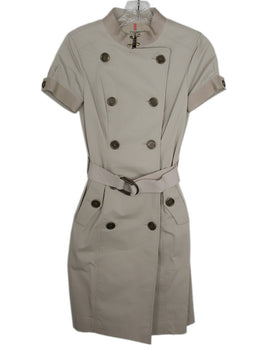 Burberry Neutral Beige Cotton W/Belt Dress 1