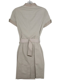 Burberry Neutral Beige Cotton W/Belt Dress 2