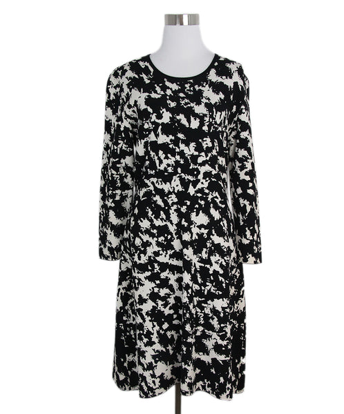 Burberry Black Beige Print Dress 1
