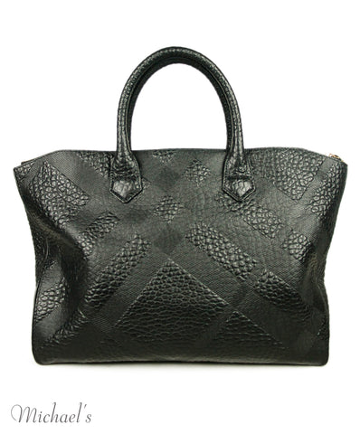 Burberry Black Leather Bag 1