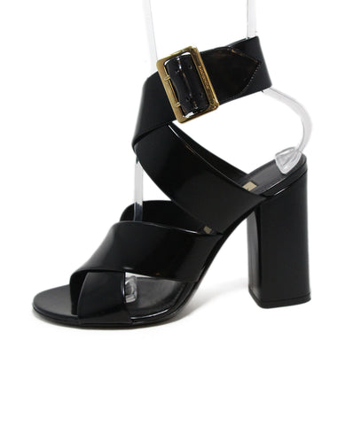Burberry Black Leather Sandals 1