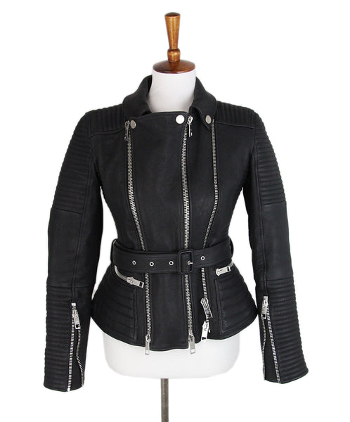 Burberry Black Leather jacket 1