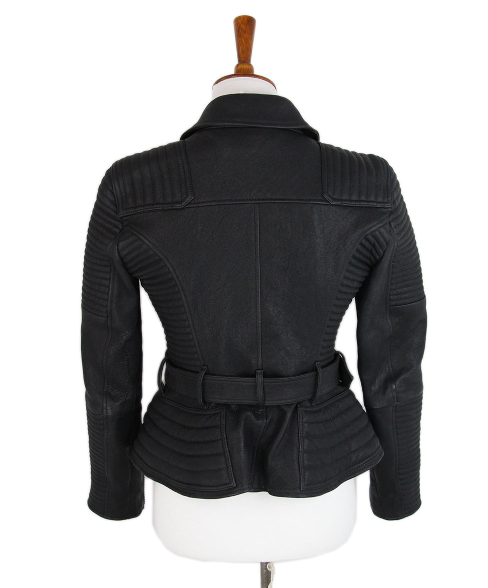 Burberry Black Leather jacket 3