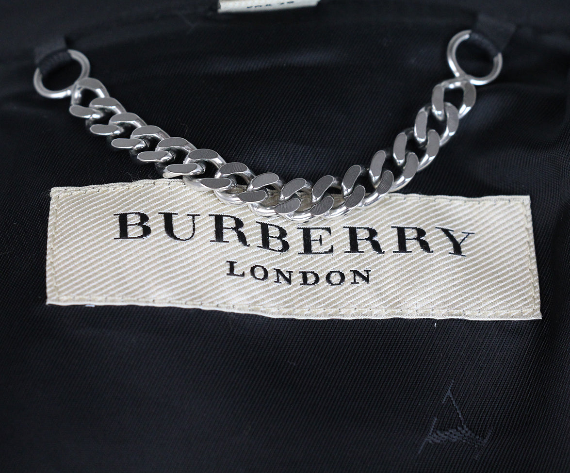 Burberry Black Leather jacket 7