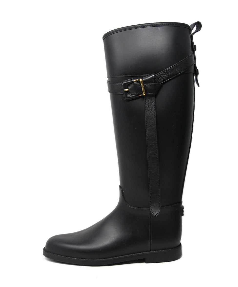 Burberry Black Rubber Boots 2