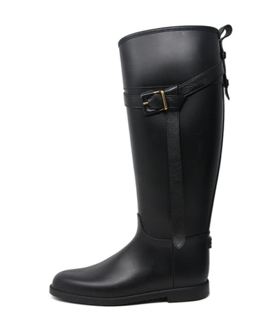 Burberry Black Rubber Boots 1