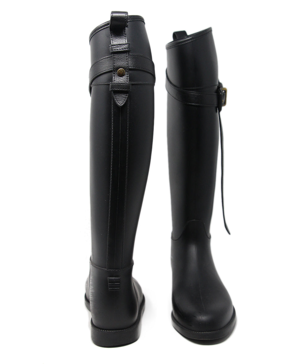 Burberry Black Rubber Boots 3