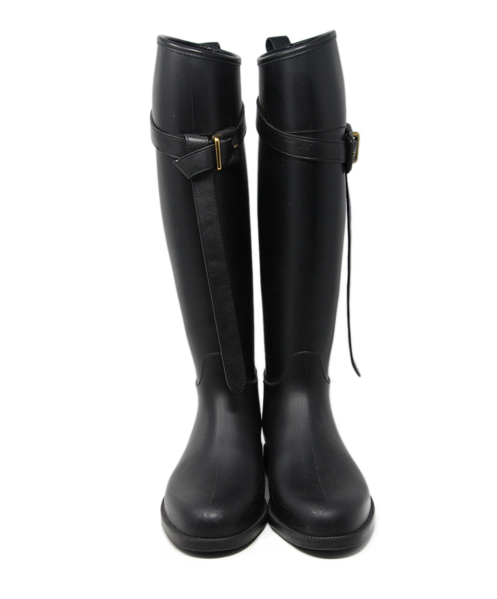 Burberry Black Rubber Boots 4