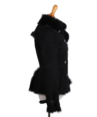Burberry Black shearling coat 1