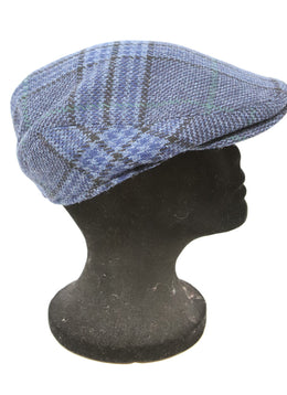 Burberry Blue and Black Plaid Wool Hat 2