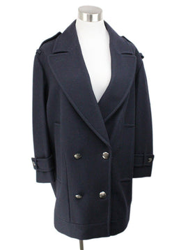 Burberry Navy Wool Coat 1