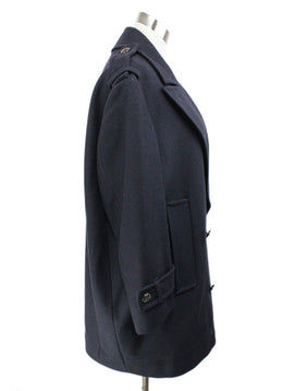 Burberry Navy Wool Coat 2