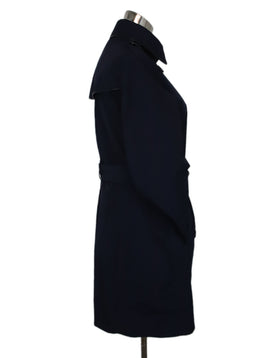 Trenchcoat Burberry Brit Blue Navy Polyester W/Belt Outerwear 2