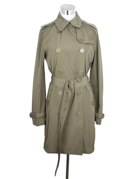 Trenchcoat Burberry Brit Olive Polyester W/Belt Sp 20 Storage Outerwear 1
