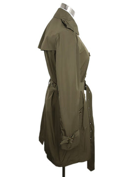 Trenchcoat Burberry Brit Olive Polyester W/Belt Sp 20 Storage Outerwear 2