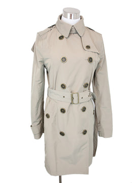 Burberry Brit Khaki Trench Coat With Belt and Detachable Hood 1