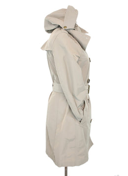Burberry Brit Khaki Trench Coat With Belt and Detachable Hood 2
