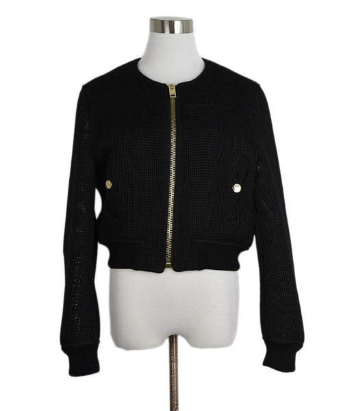 Burberry Brit Black Polyester Mesh Jacket 1