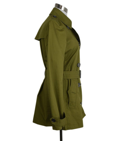 Burberry Brit Green Olive Cotton Outerwear Jacket 1